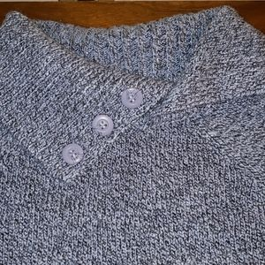 Navy blue and light blue speckled sweater
